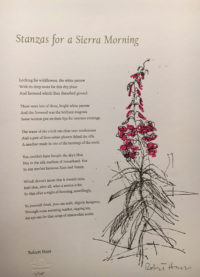 Stanzas for a Sierra Morning (signed)
