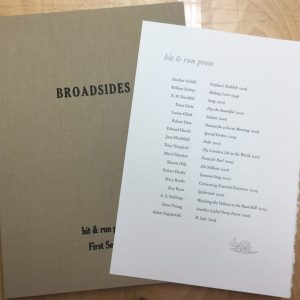Boxed Set – Signed Broadsides First Series
