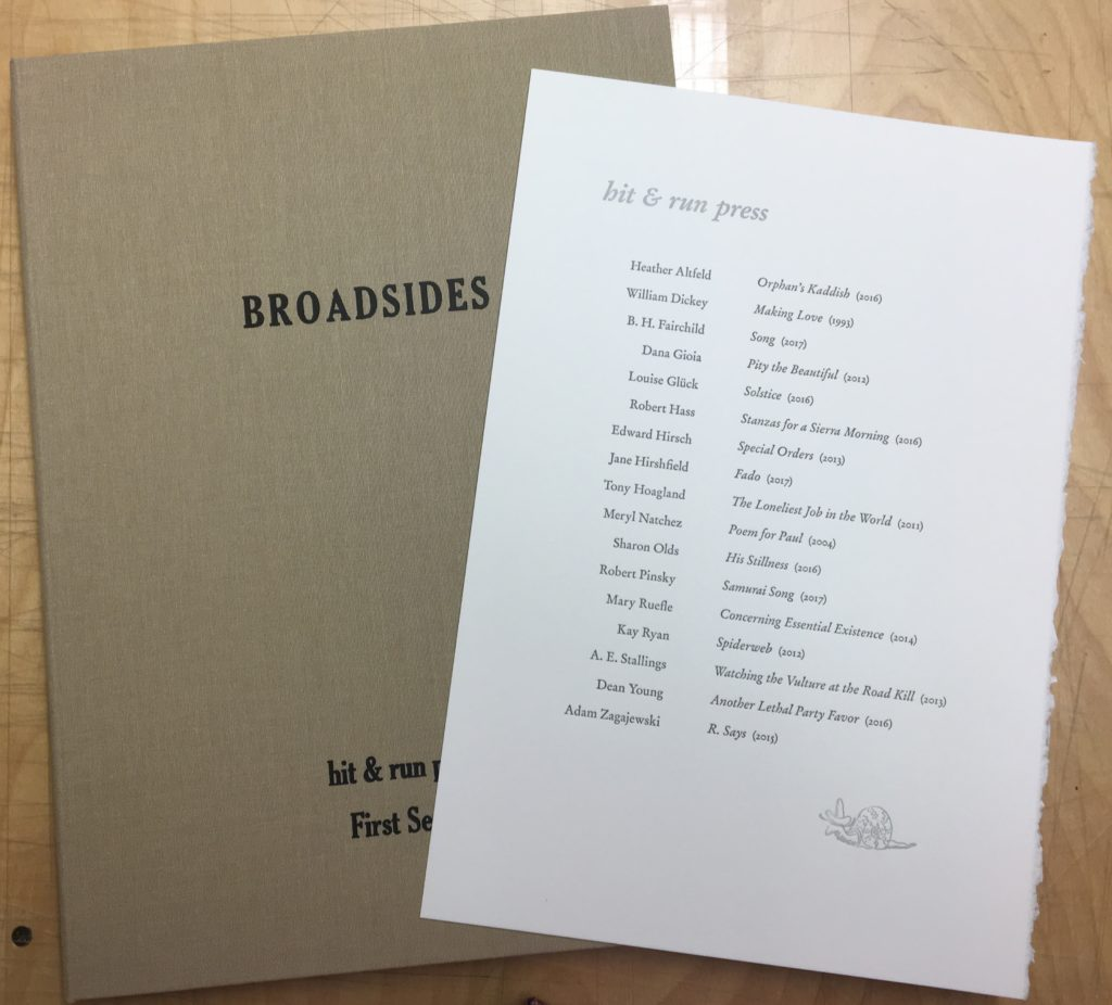 Boxed Set – Unsigned Broadsides First Series