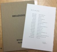 Broadsides First Series (signed)