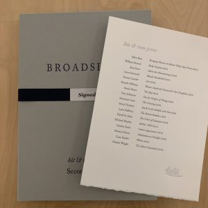 Boxed Set – Signed Broadsides Second Series
