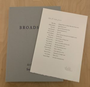 Boxed Set – Unsigned Broadsides Second Series